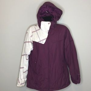 Columbia retro plum omni-shield waterproof coat XL